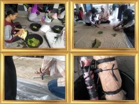 Cara Pembuatan Batik Ecoprint