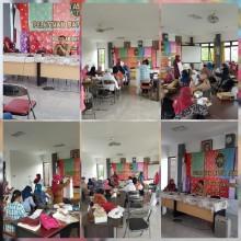 Pelatihan Batik Jumputan Sesi 1 di Kelurahan Sorosutan