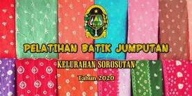 Penutup Pelatihan Batik Jumputan Sesi 3 di Kelurahan Sorosutan