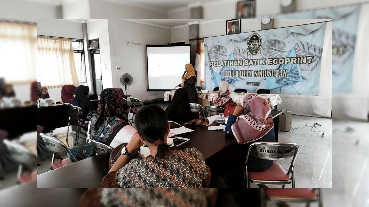Pelatihan Batik Ecoprint Hari ke-1