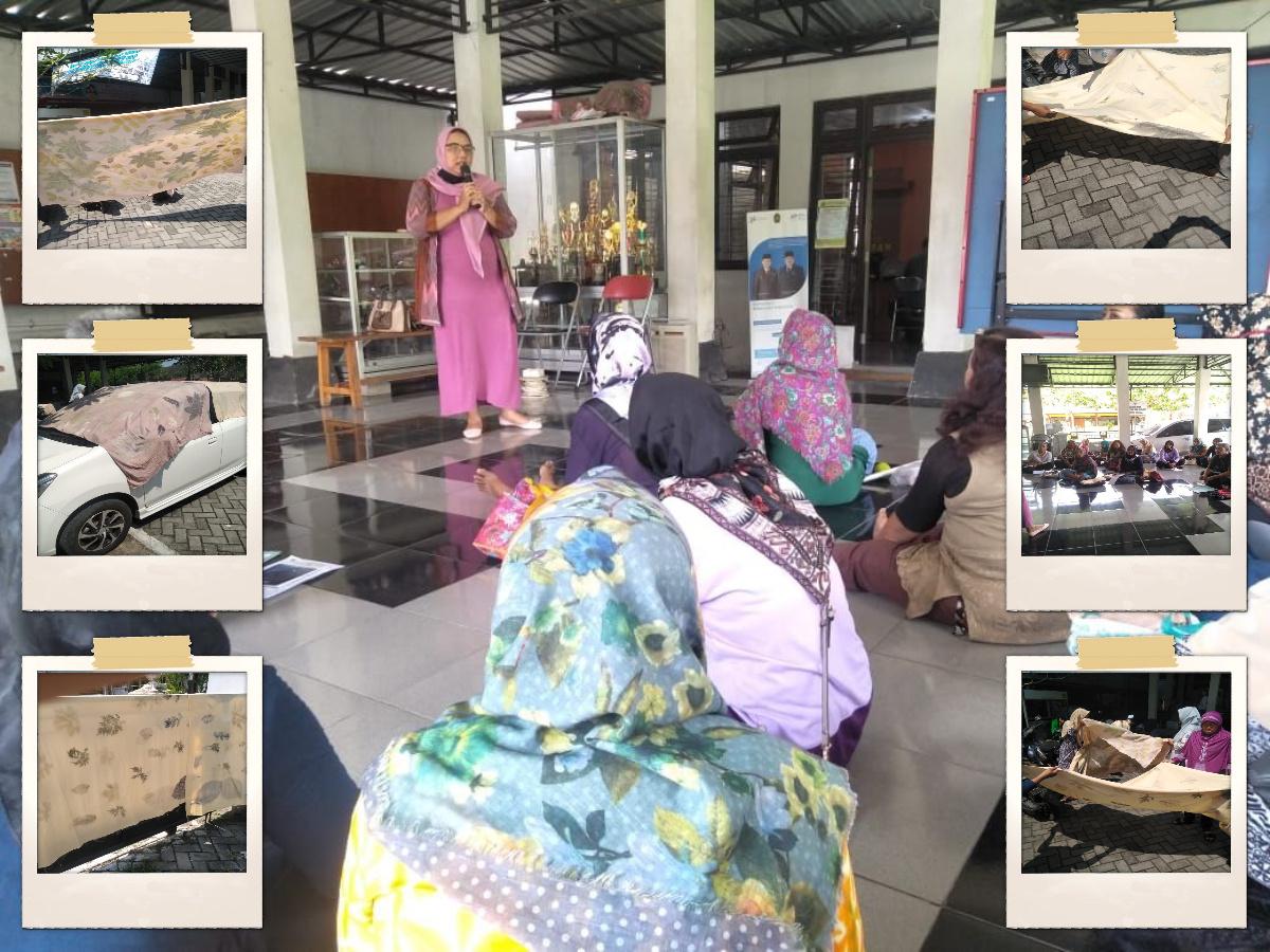 Pelatihan Batik Ecoprint Hari ke-3